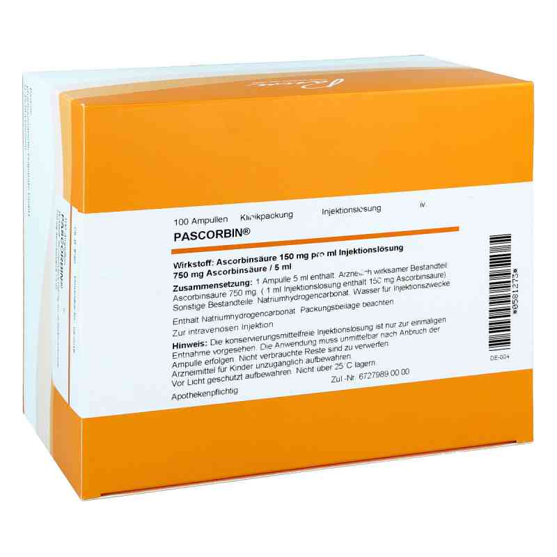 Pascorbin 750 mg Ascorbinsäure/5ml iniecto -lösung  bei Apotheke.de bestellen