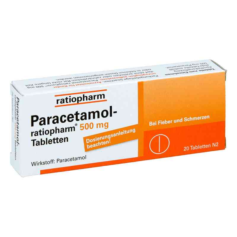 Paracetamol-ratiopharm 500mg  bei Apotheke.de bestellen
