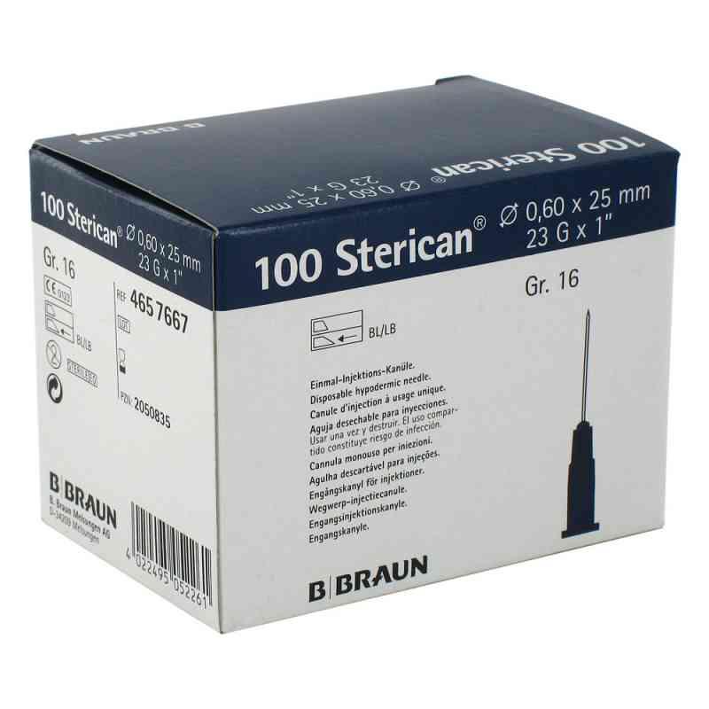 Sterican Kanüle luer-lok 0,60x25mm Größe 1 6 blau  bei Apotheke.de bestellen