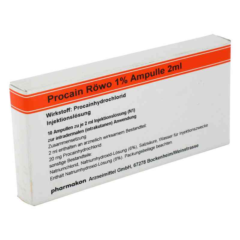 Procain Röwo 1% Ampullen 2 ml  bei Apotheke.de bestellen