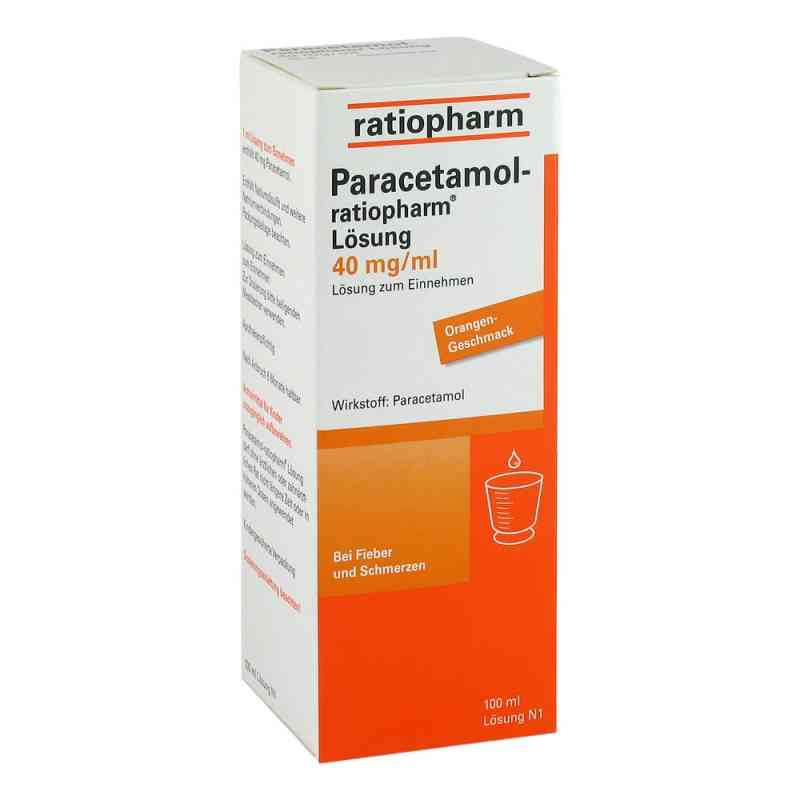 Paracetamol ratiopharm 40mg/ml Lösung zum Einnehmen  bei Apotheke.de bestellen
