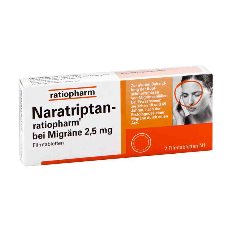Naratriptan-ratiopharm bei Migräne 2,5mg  bei Apotheke.de bestellen