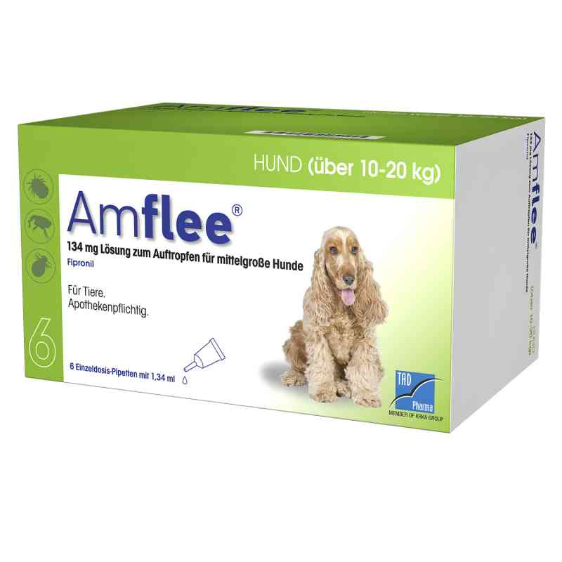 Amflee 134 mg Spot-on Lösung für mittelgr.hunde 10-20kg  bei Apotheke.de bestellen