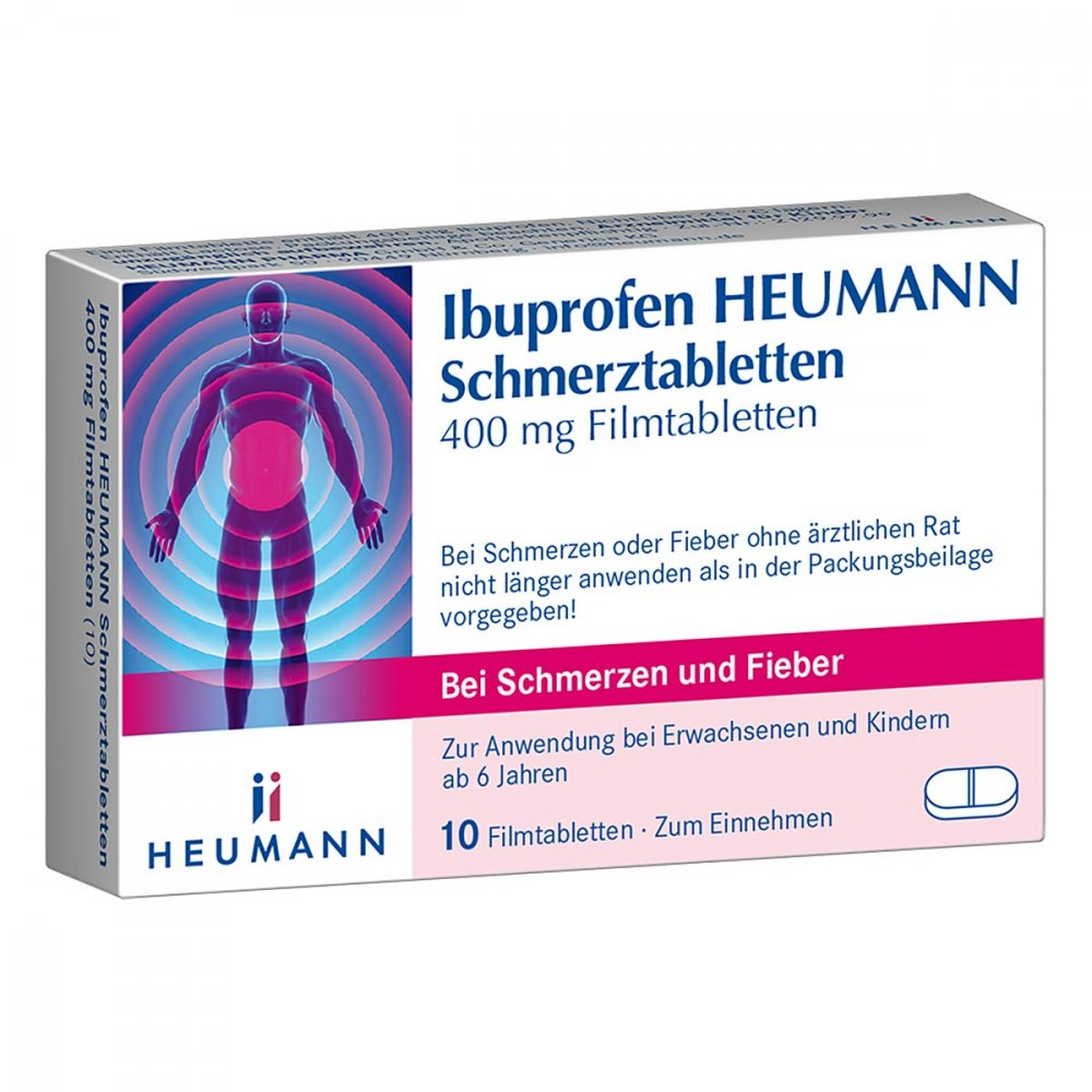 ibuprofen heumann schmerztabletten 400mg 10 stk. Black Bedroom Furniture Sets. Home Design Ideas