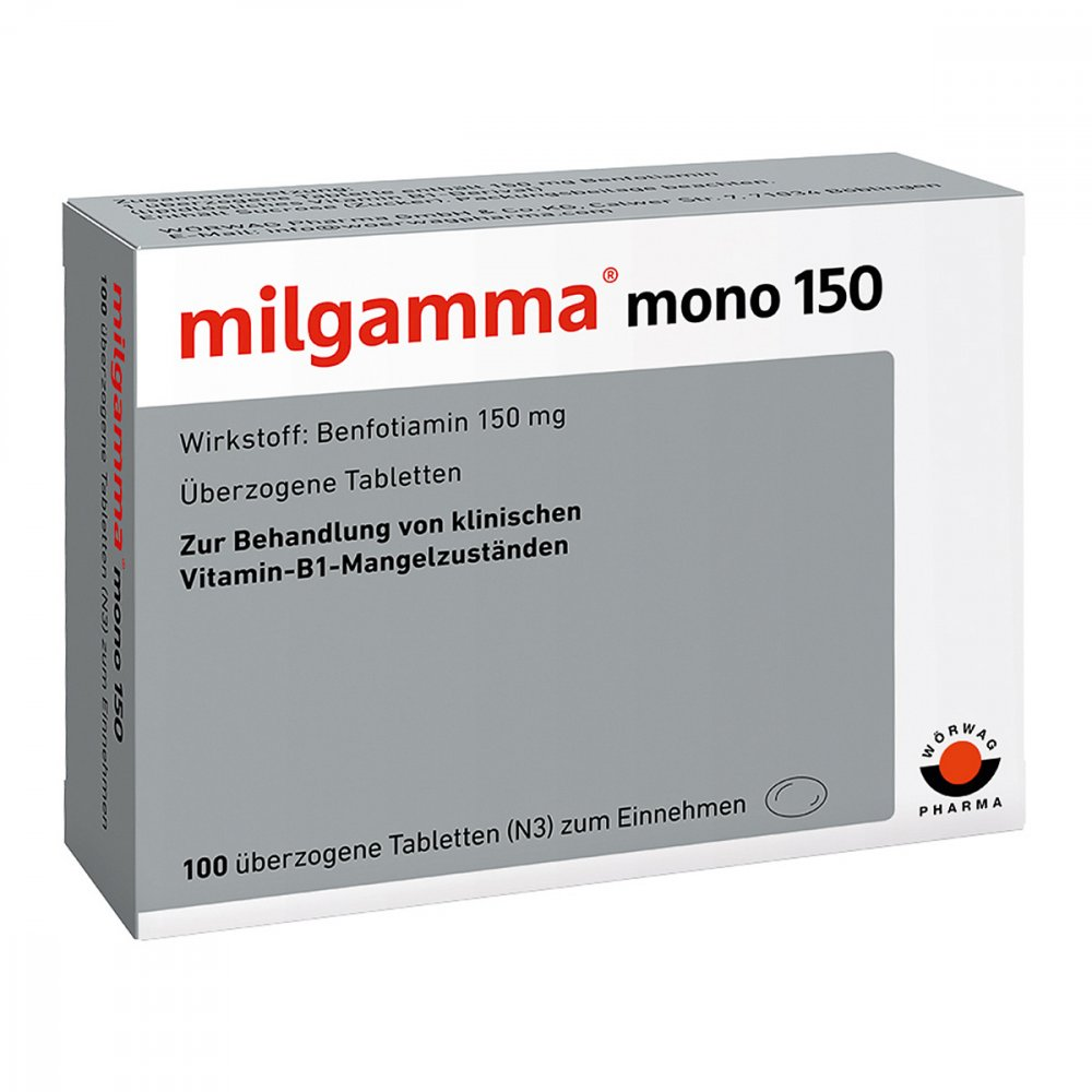 milgamma mono 150 berzogene tabletten 100 stk. Black Bedroom Furniture Sets. Home Design Ideas
