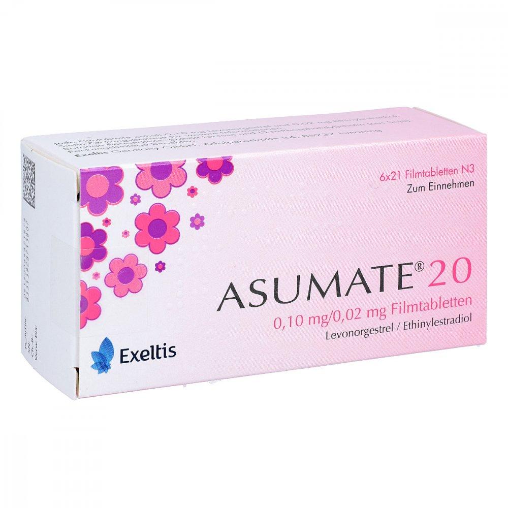 Asumate 20 0,1 mg/0,02 mg Filmtabletten 6X21 stk