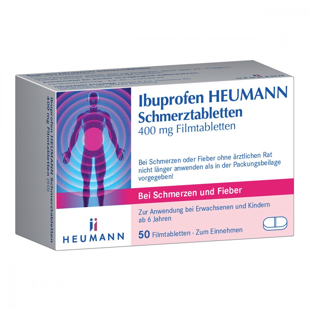 ibuprofen heumann schmerztabletten 400mg 50 stk. Black Bedroom Furniture Sets. Home Design Ideas