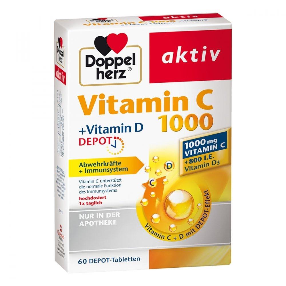 Doppelherz Aktiv Vitamin C 1000vitamin D Depot 60 Stk