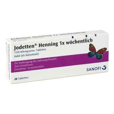 Jodetten Henning 1x wöchentlich 1530 Mikrogramm  bei Apotheke.de bestellen