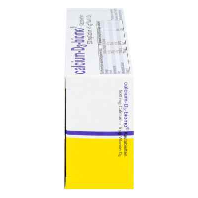 Calcium D3 biomo Kautabletten 500+d  bei Apotheke.de bestellen