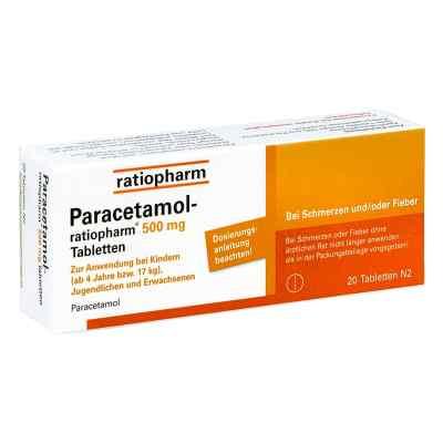 Paracetamol ratiopharm 500mg  bei Apotheke.de bestellen