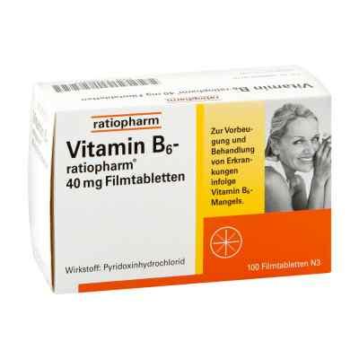 Vitamin B6 ratiopharm 40 mg Filmtabletten  bei Apotheke.de bestellen