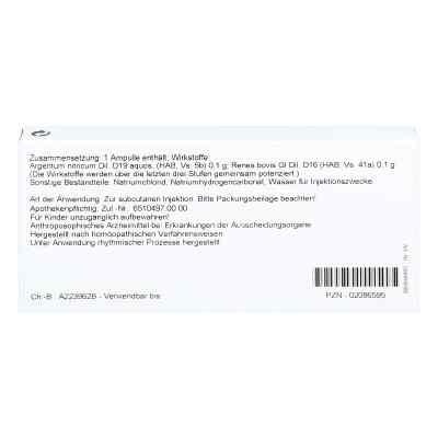 Renes/ Argentum Nitricum Ampullen  bei Apotheke.de bestellen