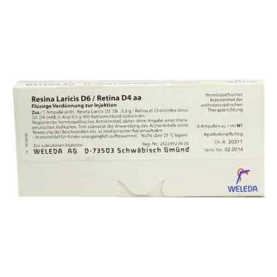 Resina Laricis/ D6 Retina D4 aa Ampullen  bei Apotheke.de bestellen
