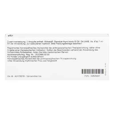 Thymus Glandula Gl D4 Ampullen  bei Apotheke.de bestellen