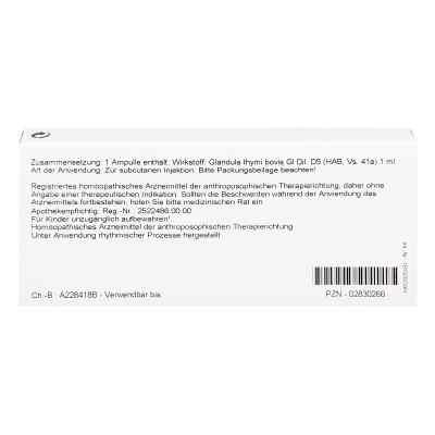 Thymus Glandula Gl D5 Ampullen  bei Apotheke.de bestellen