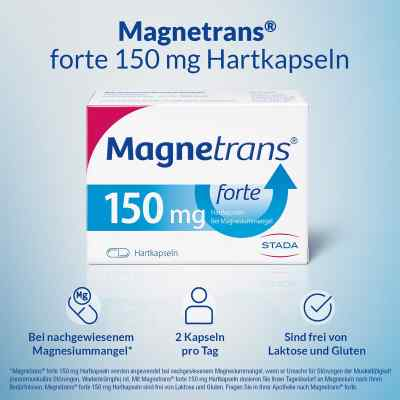 Magnetrans forte 150 mg Hartkapseln bei Magnesiummangel  bei Apotheke.de bestellen