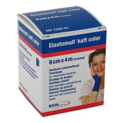 Elastomull haft 4mx6cm 72207-03 blau Fixierbinde   bei Apotheke.de bestellen