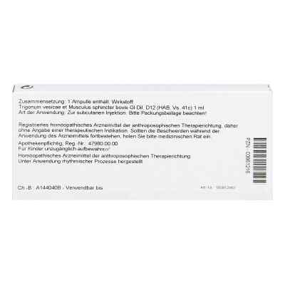 Trigonum Ves.et Musc.sph.gl D12 Ampullen  bei Apotheke.de bestellen