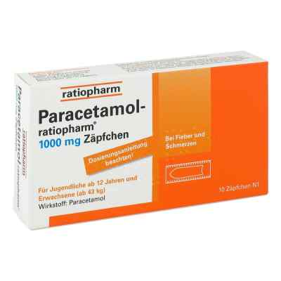 Paracetamol ratiopharm 1000 mg Erwachsenen  -suppositorien