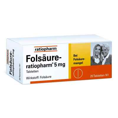 Folsäure Ratiopharm 5 mg Tabletten  bei Apotheke.de bestellen