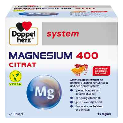 Doppelherz Magnesium 400 Citrat system Granulat  bei Apotheke.de bestellen