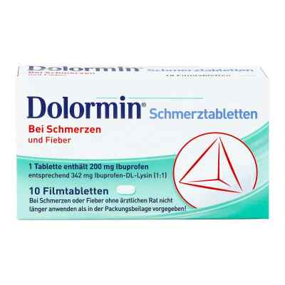 dolormin schmerztabletten 10 stk ihre g nstige online. Black Bedroom Furniture Sets. Home Design Ideas