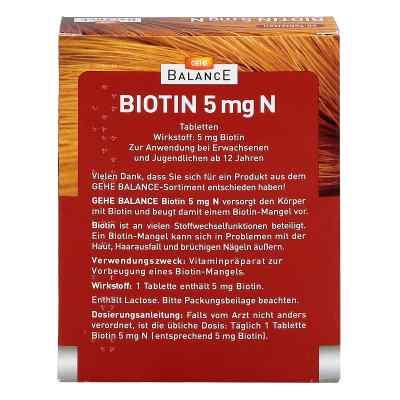 Gehe Balance Biotin 5 mg N Tabletten  bei Apotheke.de bestellen
