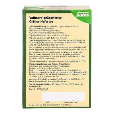 Vollmers präparierter Grüner Hafertee  bei Apotheke.de bestellen
