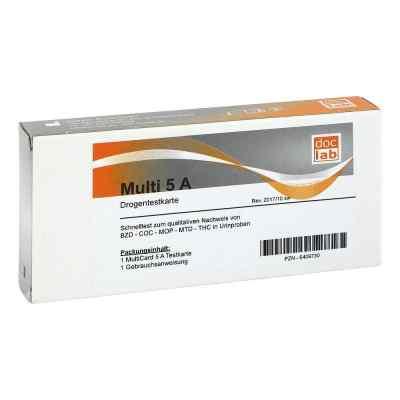 Drogentest Multi 5a Amp Coc Met Mop Thc Teststr.  bei Apotheke.de bestellen