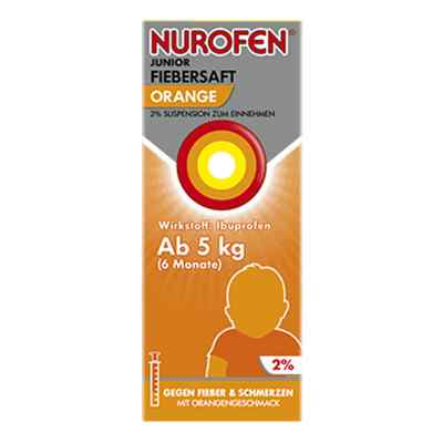 Nurofen Junior Fiebersaft Orange 2%  bei Apotheke.de bestellen
