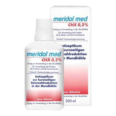 Meridol med CHX 0,2% Lösung zur Anwendung in der Mundhöhle  bei Apotheke.de bestellen