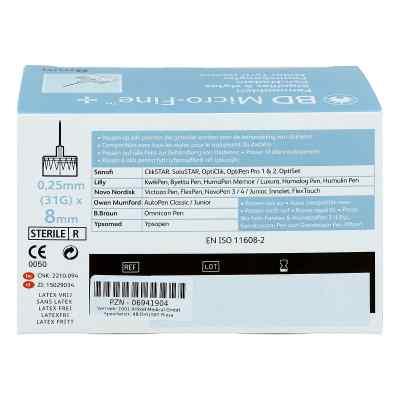 Bd Micro-fine+ 8 mm Nadeln 0,25x8 mm  bei Apotheke.de bestellen