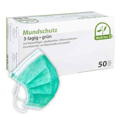 Medi Inn Mundschutz Maske mit Bändern grün  bei Apotheke.de bestellen