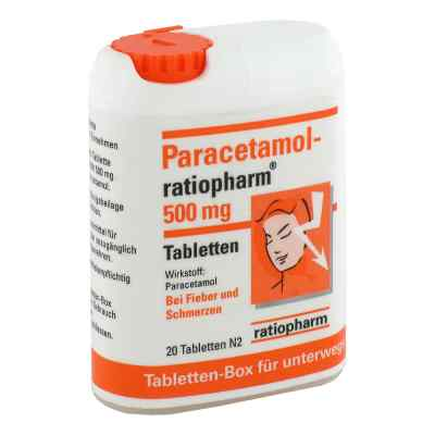 Paracetamol ratiopharm 500 mg Tabletten Box