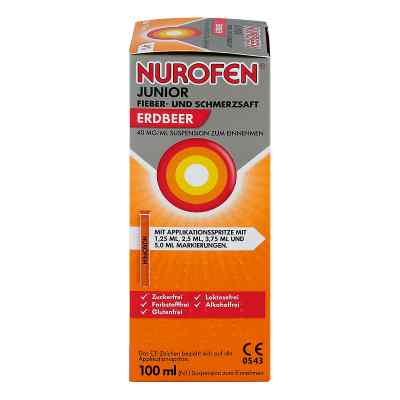 NUROFEN Junior Fieber- & Schmerzsaft Erdbeer  bei Apotheke.de bestellen