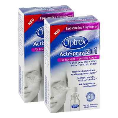 2x Optrex ActiSpray 2in1 für trockene  gereizte Augen  bei Apotheke.de bestellen