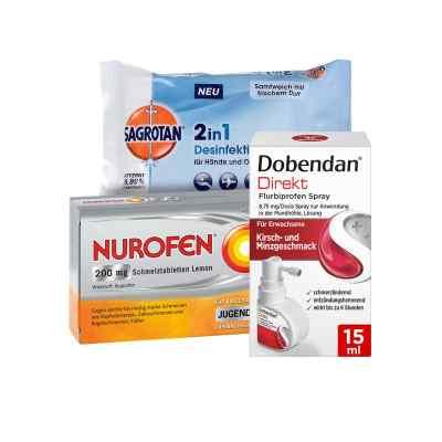 Erkältungsset Dobendan, Nurofen, Sagrotan  bei Apotheke.de bestellen