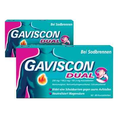 GAVISCON Dual 250 mg, 106,5 mg, 187,5 mg Kautabletten  bei Apotheke.de bestellen
