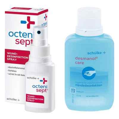 Octenisept Lösung 50ml + GRATIS Desmanol pure Händedesinfektion   bei Apotheke.de bestellen