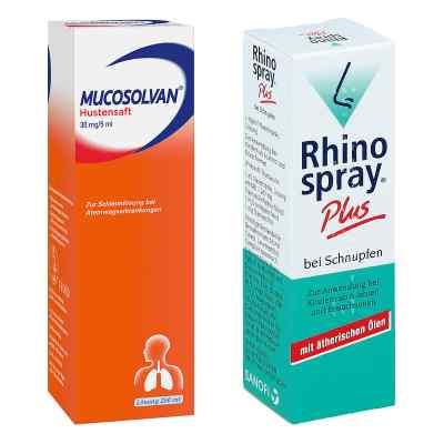Rhinospray plus bei Schnupfen + Mucosolvan Hustensaft 30mg5ml Sc  bei Apotheke.de bestellen