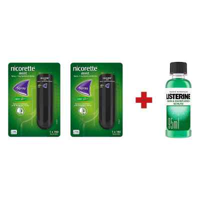 2 x nicorette spray listerine zahn zahnfleisch schutz. Black Bedroom Furniture Sets. Home Design Ideas