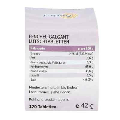 Fenchel Galgant Lutschtabletten Aurica  bei Apotheke.de bestellen
