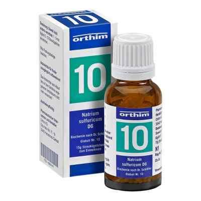 Biochemie Globuli 10 Natrium sulfuricum D 6  bei Apotheke.de bestellen