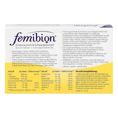 Femibion Schwangerschaft 1 D3+800 [my]g Folat Tabl  bei Apotheke.de bestellen