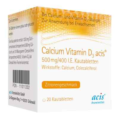 Calcium Vitamin D3 acis 500mg/400 internationale Einheiten  bei Apotheke.de bestellen