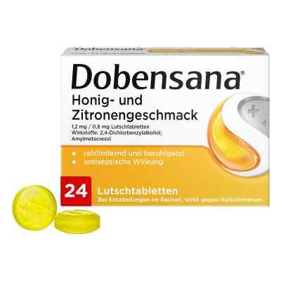 DOBENSANA Honig & Zitrone Lutschtabletten bei Halsschmerzen  bei Apotheke.de bestellen
