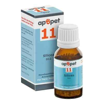 Apopet Schüssler-salz Nummer 11  Silicea D 12 Globuli veterinär   bei Apotheke.de bestellen