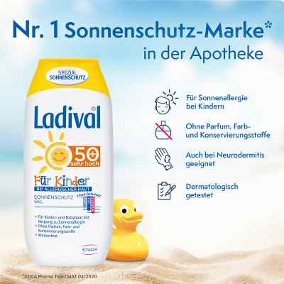 Ladival Kinder Sonnengel allergische Haut Lsf 50+  bei Apotheke.de bestellen