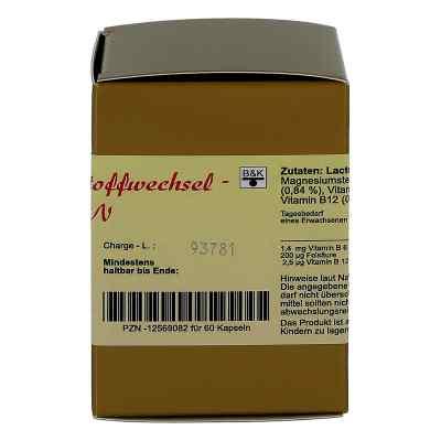 Homocystein Stoffwechsel-vitamin-komplex N Kapseln 60 stk